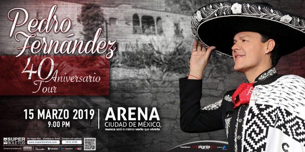 Pedro Fernández llega a la Arena Ciudad de México con su 40 ANIVERSARIO TOUR