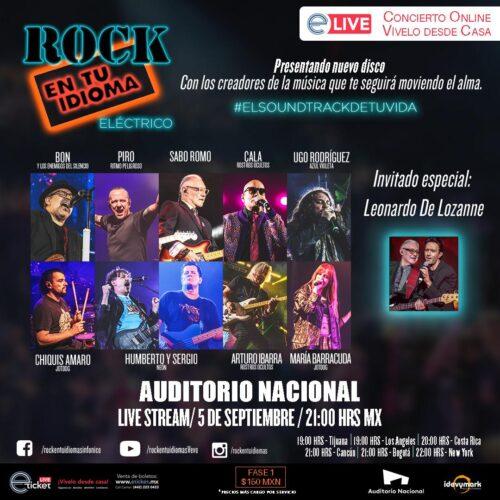 ROCK EN TU IDIOMA ELÉCTRICO el primer Live Streaming desde el Auditorio Nacional