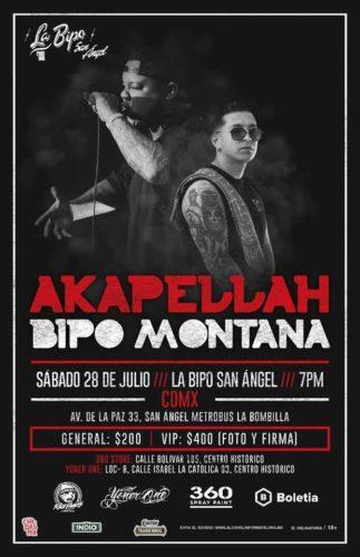 Akapellah y Bipo Montana llegan a La Bipo San Angel!