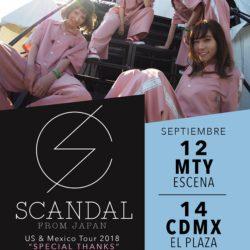 ¡La banda de rock japonesa SCANDAL regresa a México este Septiembre!