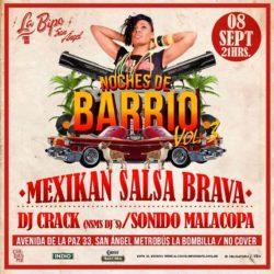 Noches de Barrio Vol. 3 en La Bipo San Angel